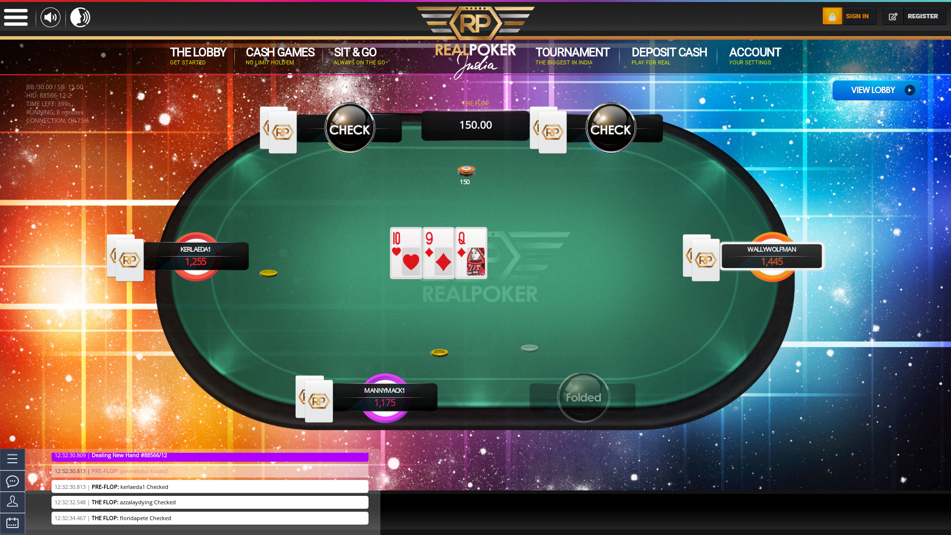 Real India Poker Online Table Bengaluru Poker - 1,000.00 SNG  NL