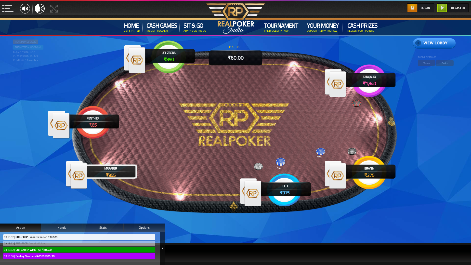Mangaluru texas holdem poker table on a 10 player table in the 10th minute of the match