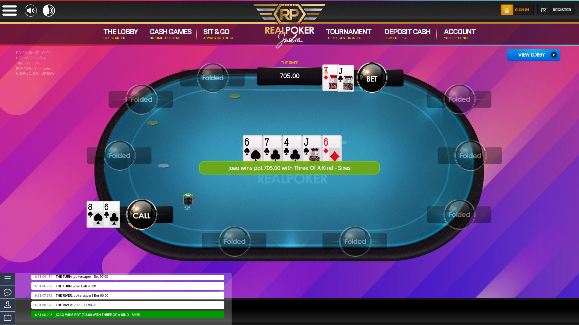 Calcutta Real Poker from July