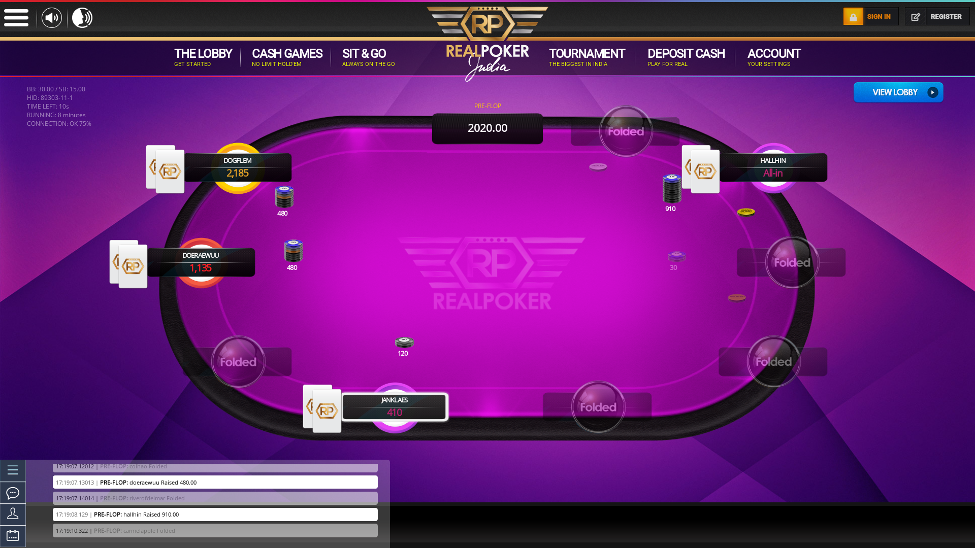 Real India Poker Online Game Table from 5th July